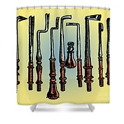 Surgical Instruments 16th Century Shower Curtain