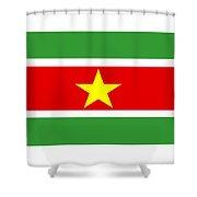 Suriname Flag Shower Curtain