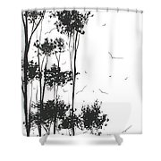 Surreal Abstract Landscape Art Painting By Madart Shower Curtain