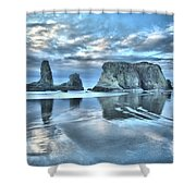 Surreal Beach Swirls Shower Curtain
