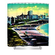 Surreal Colors Of Miami Beach Florida Shower Curtain