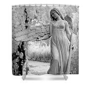 Surreal Dreamy Fantasy Infrared Angel Nature Shower Curtain
