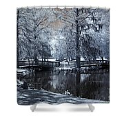 Surreal Dreamy Fantasy Nature Infrared Landscape - Edisto Park South Carolina Shower Curtain