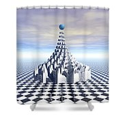 Surreal Fractal Tower Shower Curtain