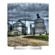 Surreal Grain Shower Curtain