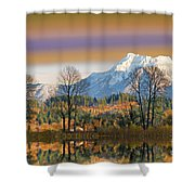 Surreal Landscape-hdr Shower Curtain