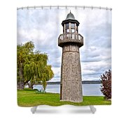 Surreal Lighthouse Shower Curtain