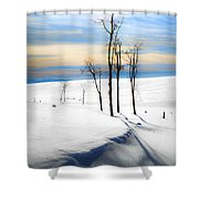 Surreal Snowscape Shower Curtain