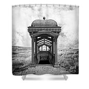Subway Surreal Shower Curtain by Edward Fielding