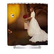 Surreal Wedding Shower Curtain