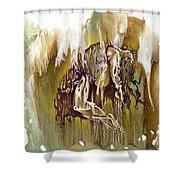 Surrender Shower Curtain by Karina Llergo