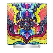 Surrender Shower Curtain by Teal Eye  Print Store