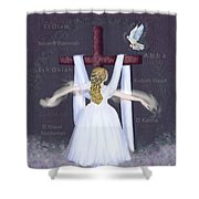 Surrender Version 2 Shower Curtain by Constance Woods
