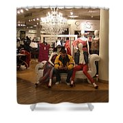 Surrounded By Beauties Shower Curtain