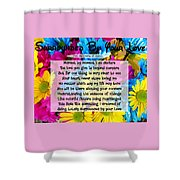 Surrounded By Your Love Shower Curtain