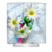 Surrounded In Love Shower Curtain