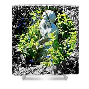 Surrounded With A Wreath Of Love Shower Curtain