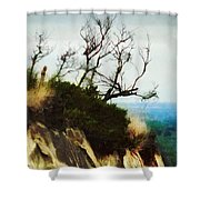 Surviving On The Cliff Top  Shower Curtain