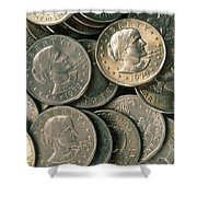Susan B. Anthony Dollar Shower Curtain