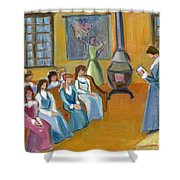 Susan B. Anthony Teaching In Canajoharie Shower Curtain