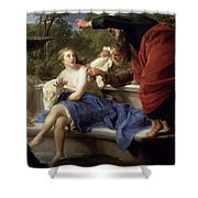 Susanna And The Elders, 1751 Shower Curtain