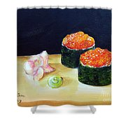 Sushi 6 Shower Curtain