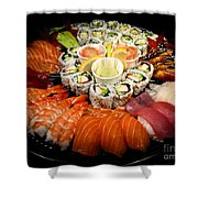 Sushi Party Tray Shower Curtain