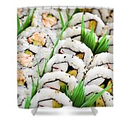 Sushi Platter Shower Curtain by Elena Elisseeva