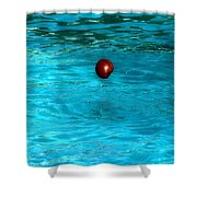 Suspended Apple Shower Curtain