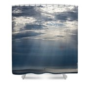 Suspended Between Heaven And Earth Shower Curtain