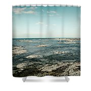 Suspended Time Shower Curtain
