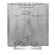 Suspender Patent Drawing Shower Curtain