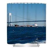 Suspension Bridge Over A Bay Shower Curtain
