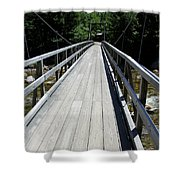 Suspension Bridge Over Pemigewasset River Nh Shower Curtain