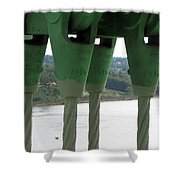 Suspension Cables Shower Curtain