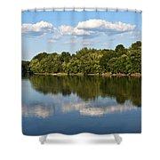 Susquehanna River Shower Curtain by Christina Rollo