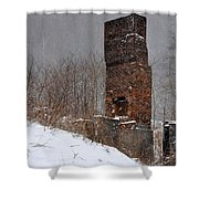 Sutherland Chimney In Winter Number One Shower Curtain
