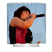 Suzanne Fox Of The Fabulous Kingpins Shower Curtain