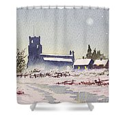 Suzan's Church Painting  Shower Curtain