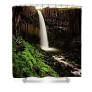 Svartifoss Waterfall, Skaftafell Shower Curtain