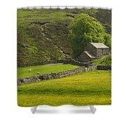Swaledale Landscape Shower Curtain