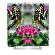 Swallowtail Butterfly Digital Art Shower Curtain