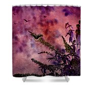 Swallowtail In The Butterfly Bush - Featured In The Wildlife And Comfortable Art And Newbies Groups Shower Curtain