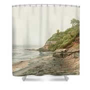 Swami's In Winter  Shower Curtain