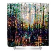 Swamp Colorfest Shower Curtain