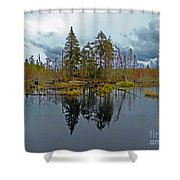 Swamp Reflection Shower Curtain