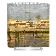 Swamped Shower Curtain
