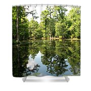 Swampland Reflection At The Plantation Shower Curtain