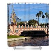 Swan And Dolphin Resort Bridge Shower Curtain