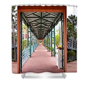 Swan And Dolphin Resort Walt Disney World 3 Panel Composite Shower Curtain